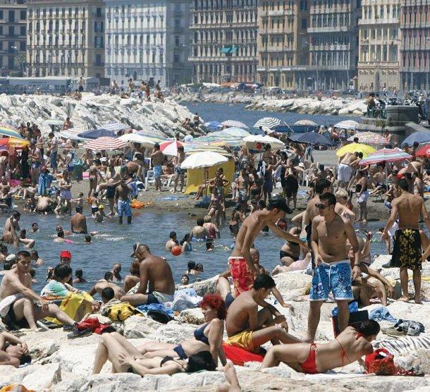 Neapol v avguste 2