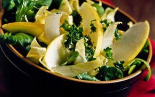 Салат бело-зеленый
