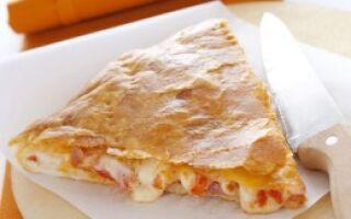 Пицца со слоеным тестом
