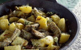 Блюдо из артишока с картофелем