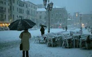 В Италии идет снег…