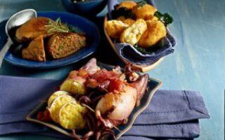 Крокеты из картофеля с креветками