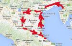 Маршрут путешествия по Италии