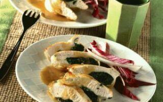 Куриное филе со шпинатом