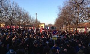 Антифашистская манифестация в Кремоне 24.01.2015 г. (видео)