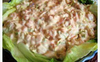 Креветки в розовом соусе