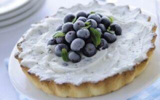 Пирог с йогуртом и черникой