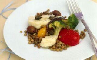 Салат с чечевицей и цветной капустой