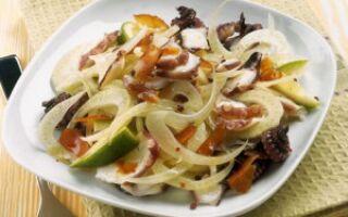 Салат с осьминогом и фенхелем