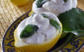 Лимонный мусс с мятой