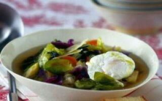 Итальянский суп с яйцами