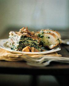 Лазанья грибы картошка