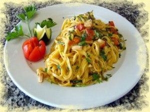спагетти с цукини