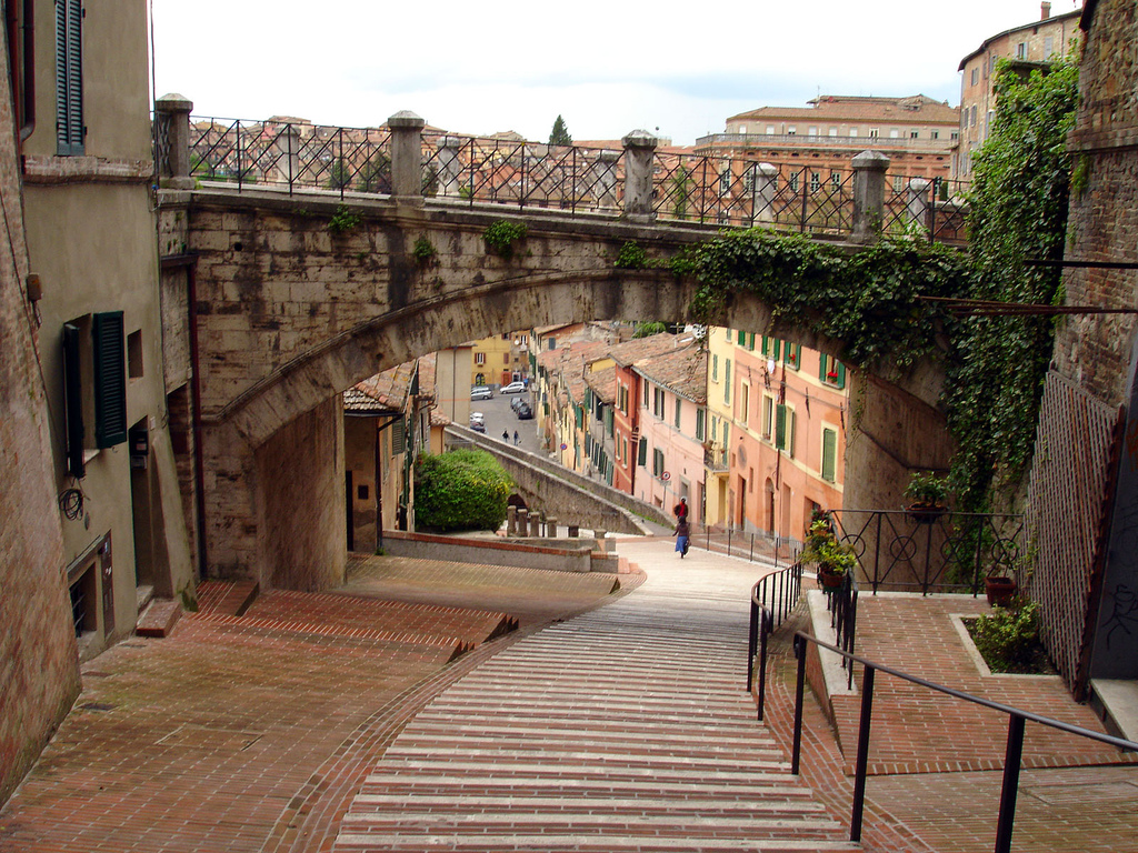 Перуджа лестница