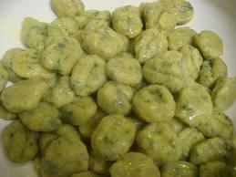 ньокки зеленые