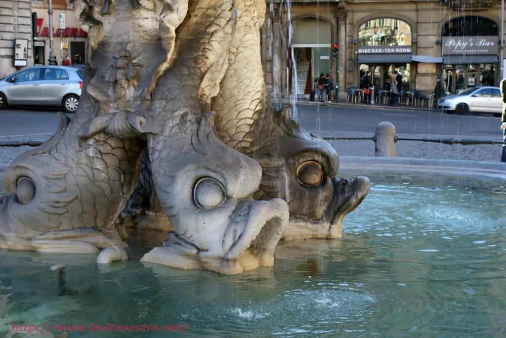 Фонтаны Рима фонтан Тритона 4