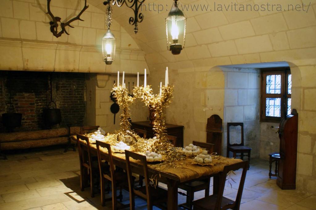 Обеденный зал замка Шенонсо