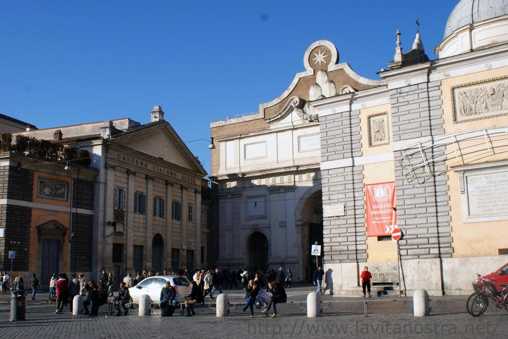 Площадь Пополо в Риме 4