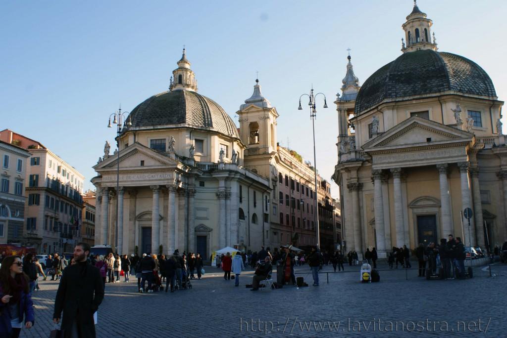 Площадь Пополо в Риме 11