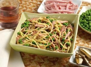 Спагетти с грибами и горошком 5