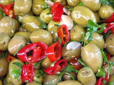 Оливки Италии в масле со специями