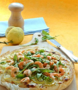 Pizza-rucola-krevetki