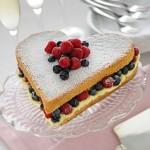Торт для мамы в виде сердца